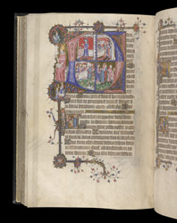 Historiated Initials To Vespers With Scenes From The Life Of Christ, In The Egerton Bohun Psalter-Hours